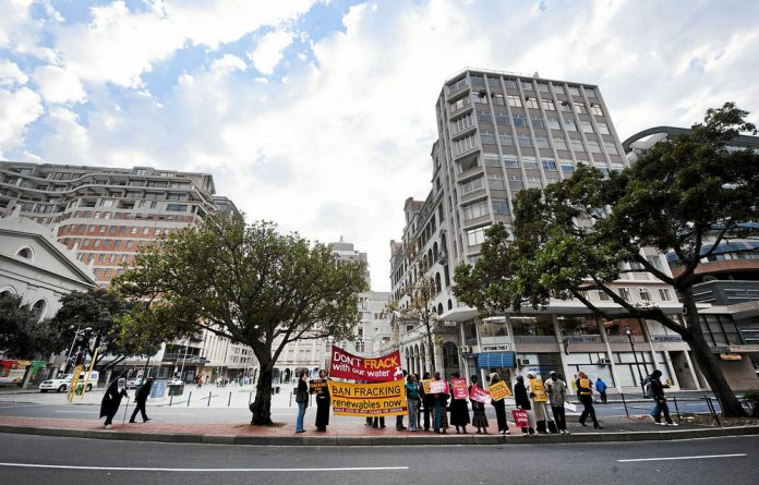 Some environmental organisations have protested against fracking in South Africa.
