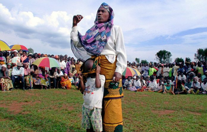 A woman charged with committing acts of murder during the Rwandan genocide of 1994