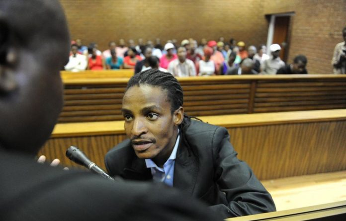 Musician Brickz in court.