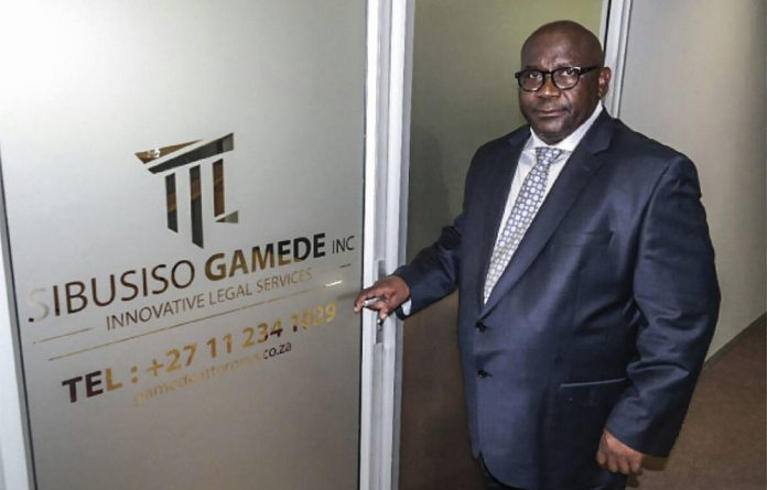 Slick: Sibusiso Gamede is facing legal action after a forensic report found he received payments into his legal practice's trust account from oil traders and his wife's company