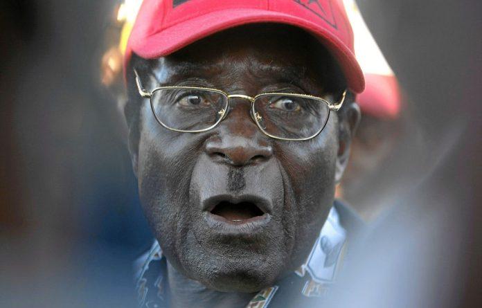 Zimbabwe President Robert Mugabe.