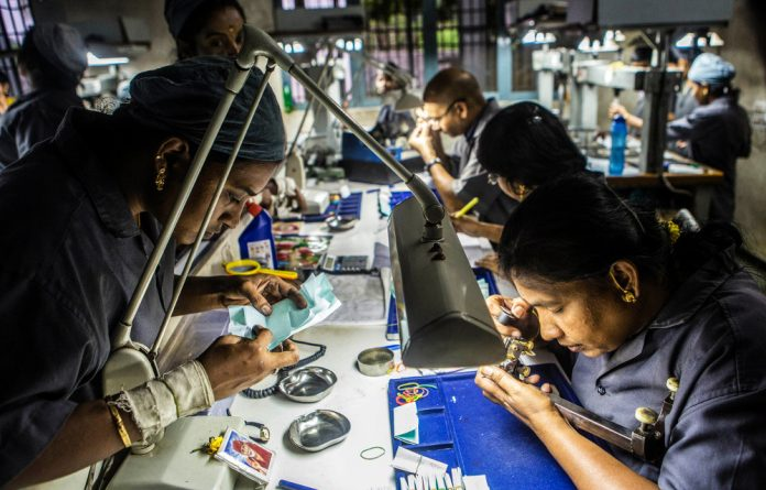 Half the diamonds cut by 800 000 workers in India come from Africa