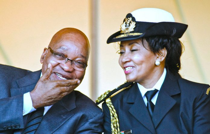 President Jacob Zuma and former defence minister Lindiwe Sisulu at a Freedom Day event in 2011.