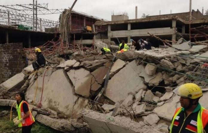 Ethekwini fire department chief Mark te Water confirmed a building had collapsed in the area.