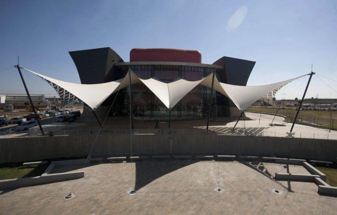 Soweto's new theatre is a striking landmark.