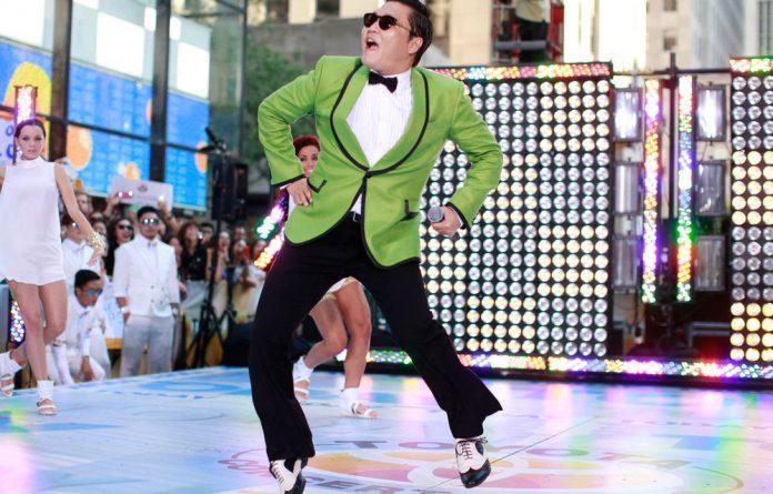 Korean rapper-singer Psy performs in New York.