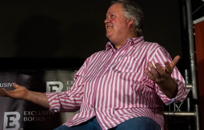 Left in the dark: Jacques Pauw after the power went out.