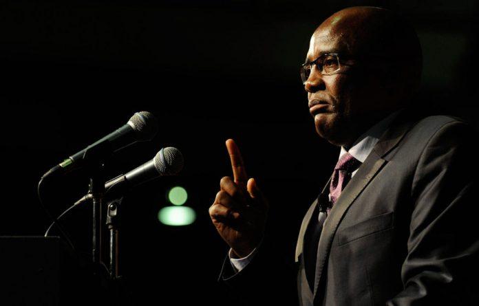 Minister of Home Affairs Aaron Motsoaledi