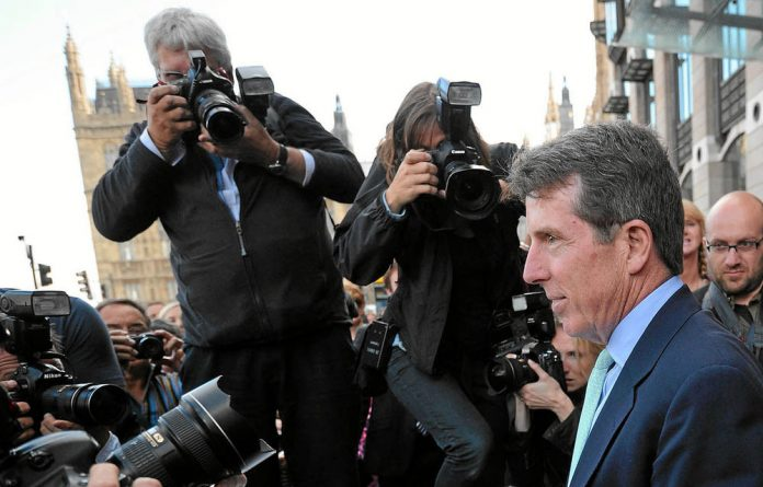 Former Barclays Capital chief executive Bob Diamond is confronted by the press after giving evidence to the British treasury select ­committee in London this week.