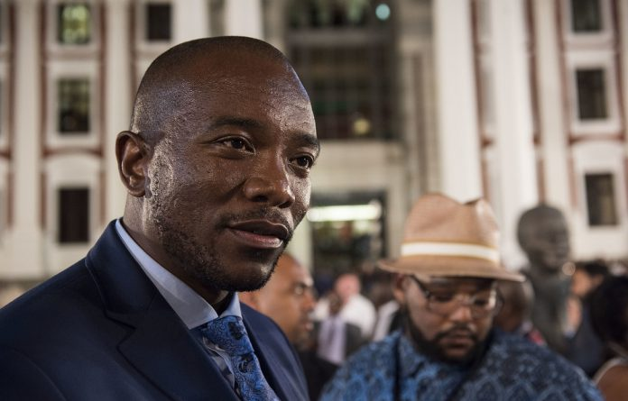 Democratic Alliance leader Mmusi Maimane.