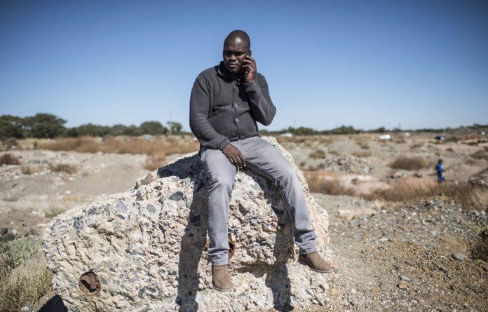 Lucky Seekoei heads the Northern Cape Artisanal Miners' Association