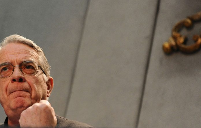 Vatican spokesperson Federico Lombardi speaks during a press conference.