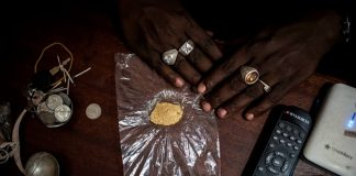 The gold gets sold to traders in the near by town of Mambasa