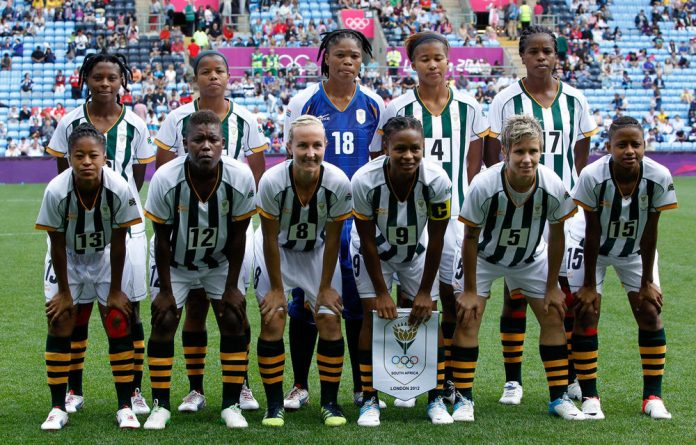 Banyana Banyana  pose for a group shot before their Olympic clash with Canada on Saturday.