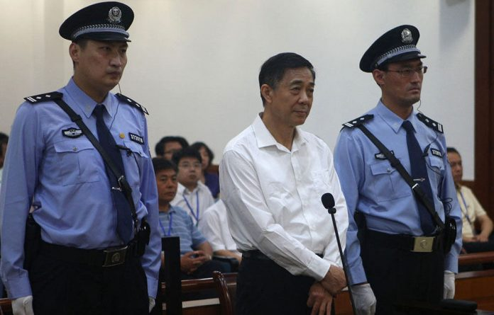 Ousted top politician Bo Xilai.