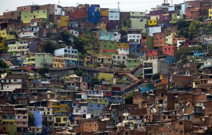 Comuna 13 shantytown is one of the poorest areas of Medellín