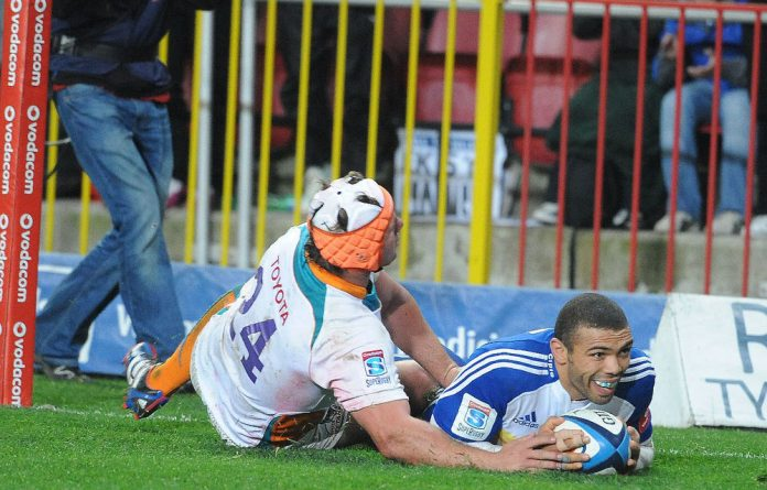 Bryan Habana scores for the Stormers against the Cheetahs in Cape Town on Saturday.