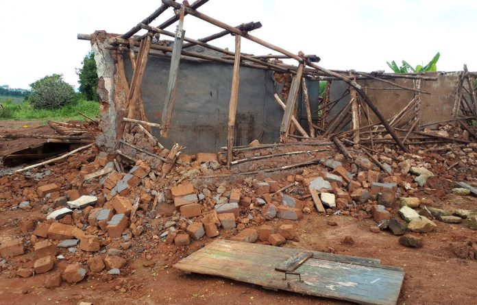 Destroyed: Citizens are forcefully evicted and have no recourse because King Mswati III controls land in the country. Photo: Amnesty International