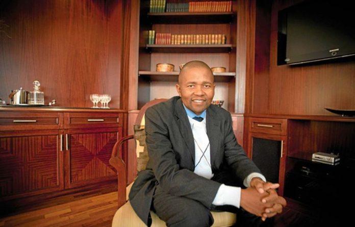 Caption Start-up finance: Geoffrey Qhena