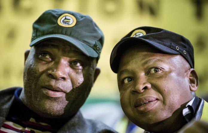 Allies: Former Limpopo premier Cassel Mathale