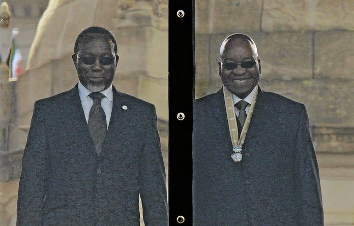 Kgalema Motlanthe with Jacob Zuma at the latter's