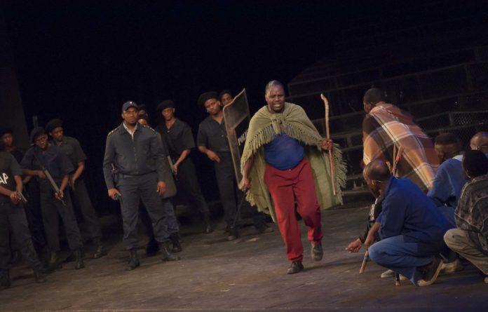 A scene from 'Marikana: The Musical'.