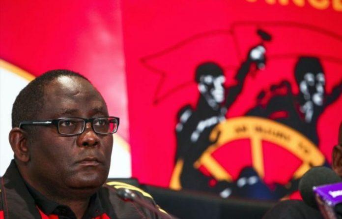 Suspended Cosatu secretary general Zwelinzima Vavi.