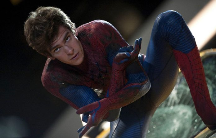 New star: Andrew Garfield togs up as The Amazing Spider-Man