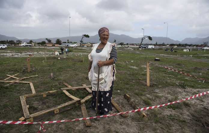 Residents of Parkwood in Cape Town occupied empty land