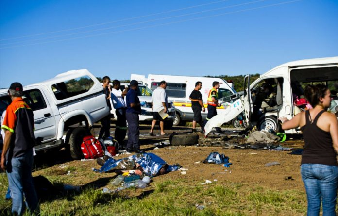 The Moloto Road is notorious for fatal crashes like this one in April