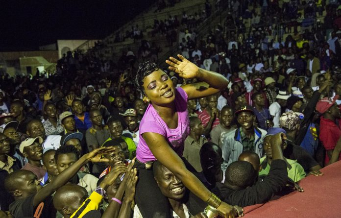 Rebel music: Zimdancehall gets the crowd jumping at a concert in Zimbabwe