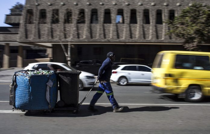 Waste warrior: David Maqolo has been in the recycling business for 22 years and supports four children and his wife with the money he makes from his toil.