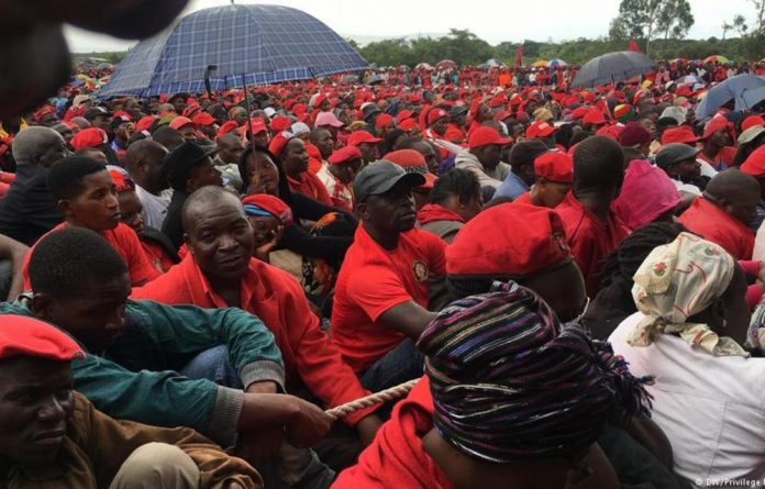 MDC supporters attending the funeral of opposition leader Morgan Tsvangirai.