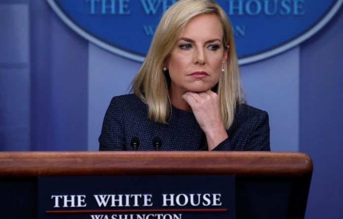 U.S. Homeland Security Secretary Kirstjen Nielsen answers questions during the daily briefing at the White House in Washington