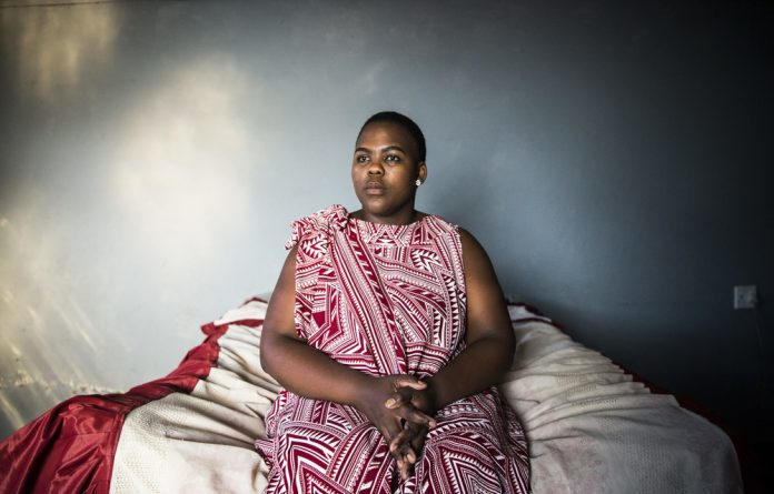 Invaded: Palesa Khanya's outside room at her parent's home was her safe personal space until her ex-boyfriend entered it. At first she kept the abuse secret until he quietly threatened to kill her. Photo Delwyn Verasamy