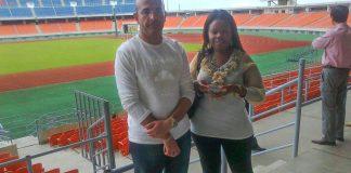 Expenses paid: Namibia Airports Company chief Tamer el-Kallawi and businessperson Irene Simeon-Kurtz in Maputo.