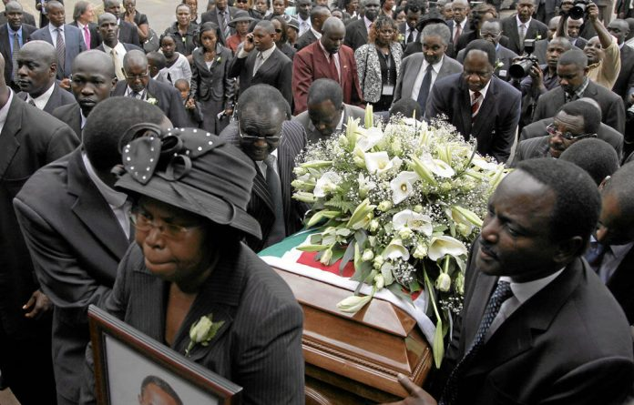 The death of Kenya's internal security minister and presidential candidate