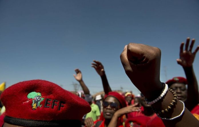 Red alert: Julius Malema and his Economic Freedom Fighters are highly authoritarian in nature