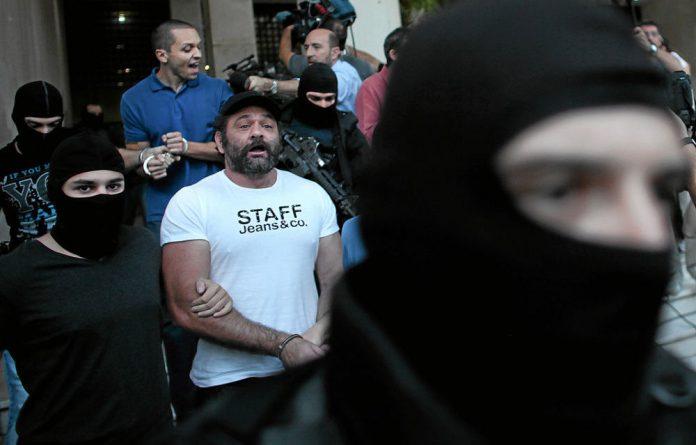Arrested: Golden Dawn members Yannis Lagos