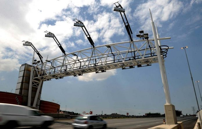A toll gate on the N1 South in Johannesburg.