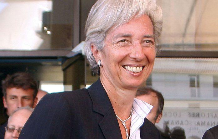 IMF head Christine Lagarde.