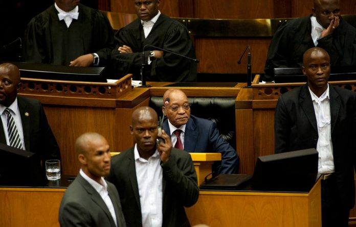 President Jacob Zuma during the State of the Nation Address 2015.