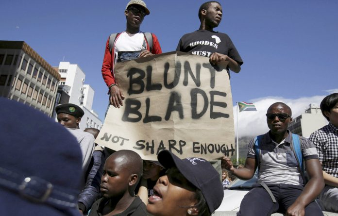Cutting comment: Higher Education Minister Blade Nzimande is blamed for the student fees crisis.