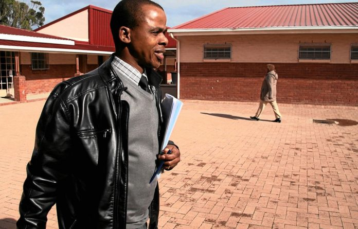 Nelson Ma'Afrika leaves his school open until late so that pupils have a place to study.