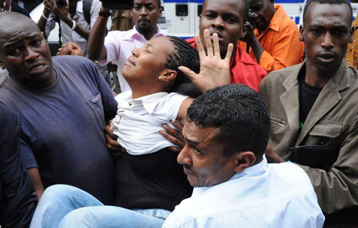 A blast has struck a shopping centre in Nairobi