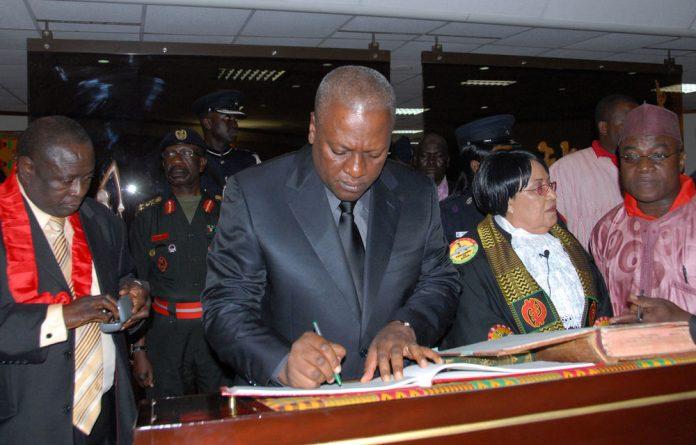 Ghana's new President John Dramani Mahama.