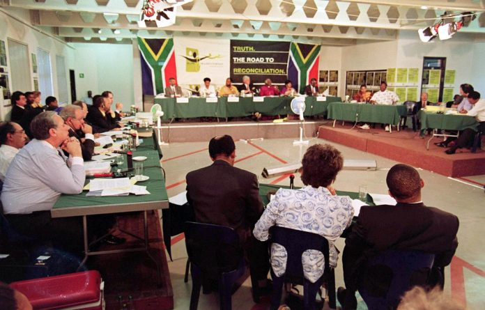 Winnie Madikizela Mandela testifies at the South African Truth and Reconciliation Commission