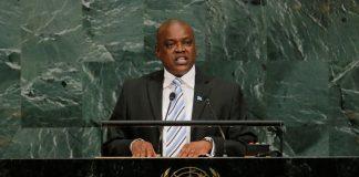 Botswana President Mokgweetsi Masisi.