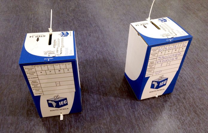 Tamper-proof? The The Electoral Commission of South Africa says the Electoral Act allows political parties to attach their own seals to ballot boxes to ensure they are not tampered with.