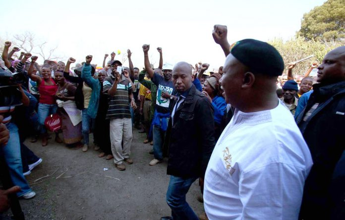 Solidarity has laid charges against Julius Malema for remarks made to mineworkers.